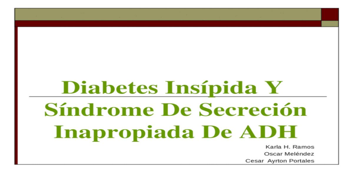 diabetes insípida causa de deficiencia de adh