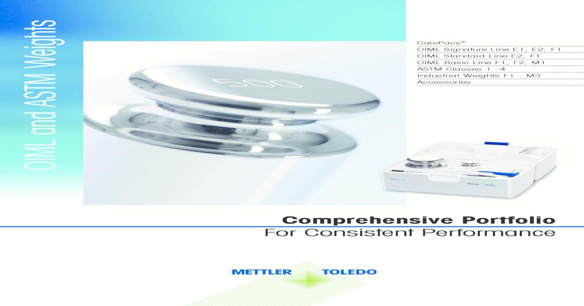 METTLER TOLEDO 11123468 Individual Weight without Certificate 20kg Mettler Toledo Inc. ASTM Class 1