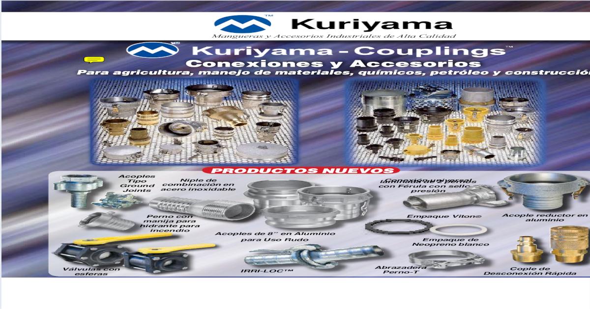 250 PSI 2 Kuriyama of America Inc. 2 Kuriyama AL-E200 Aluminum Part E Adapter