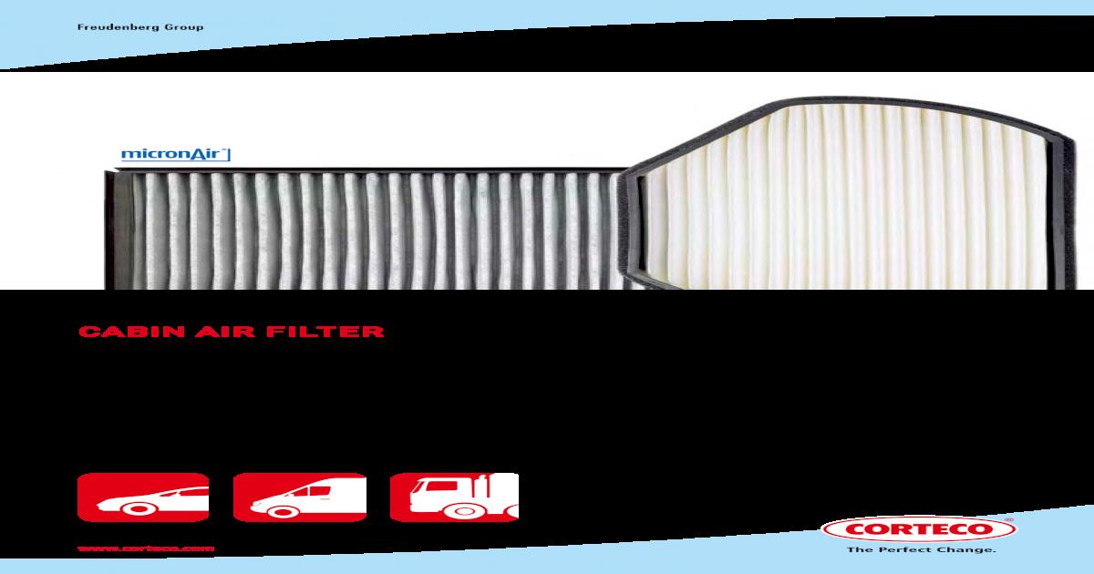 Corteco 21652689 Filtre air de lhabitacle