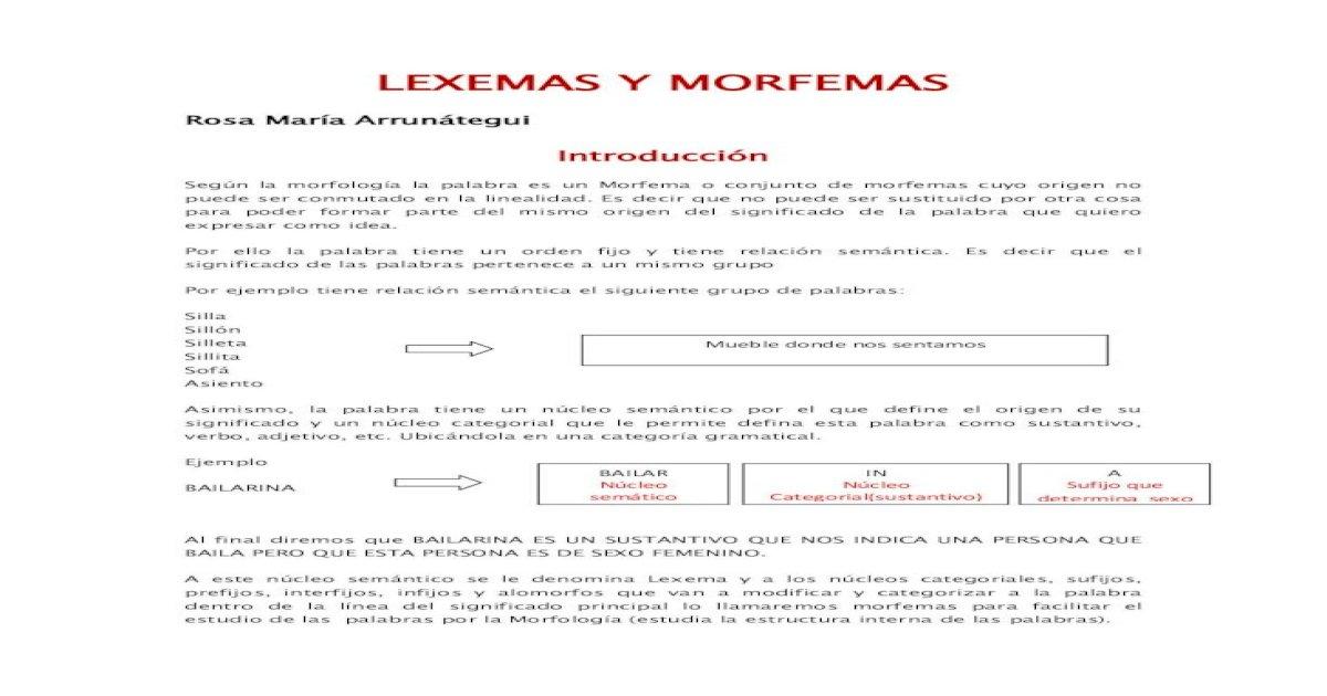 Lexema Y Morfema 2