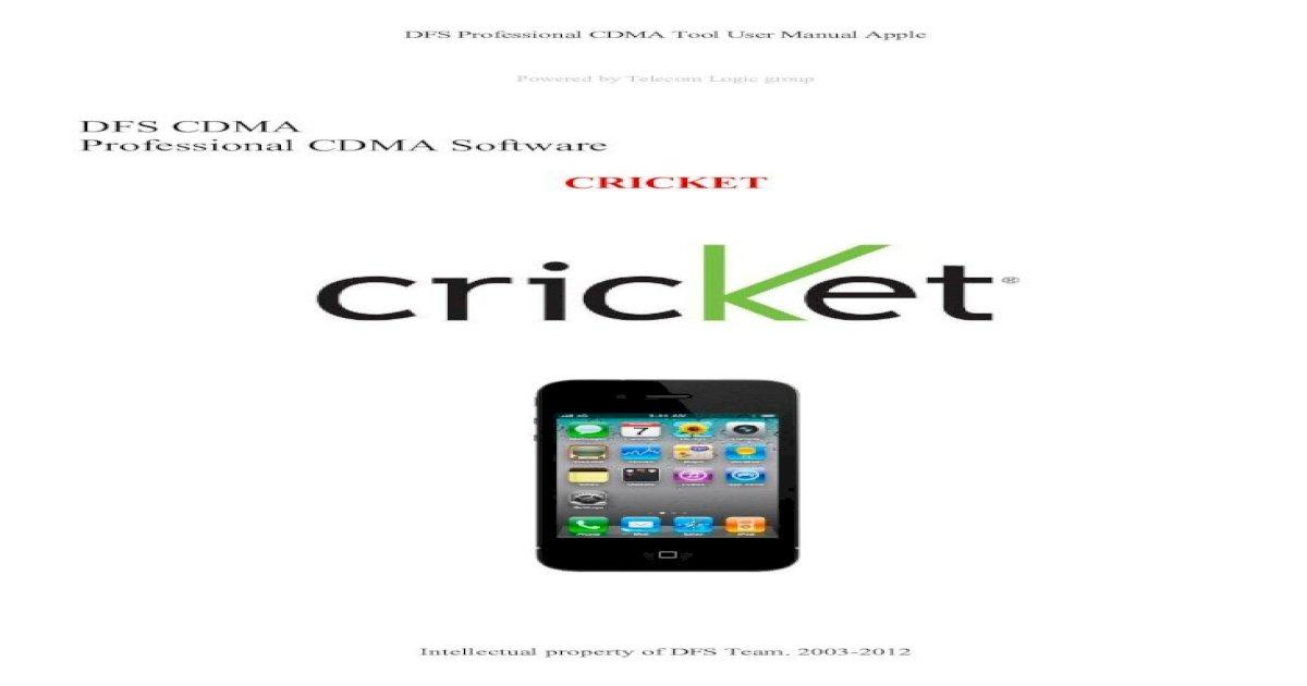 DFS CDMA Professional CDMA to setup iPhone on... · DFS