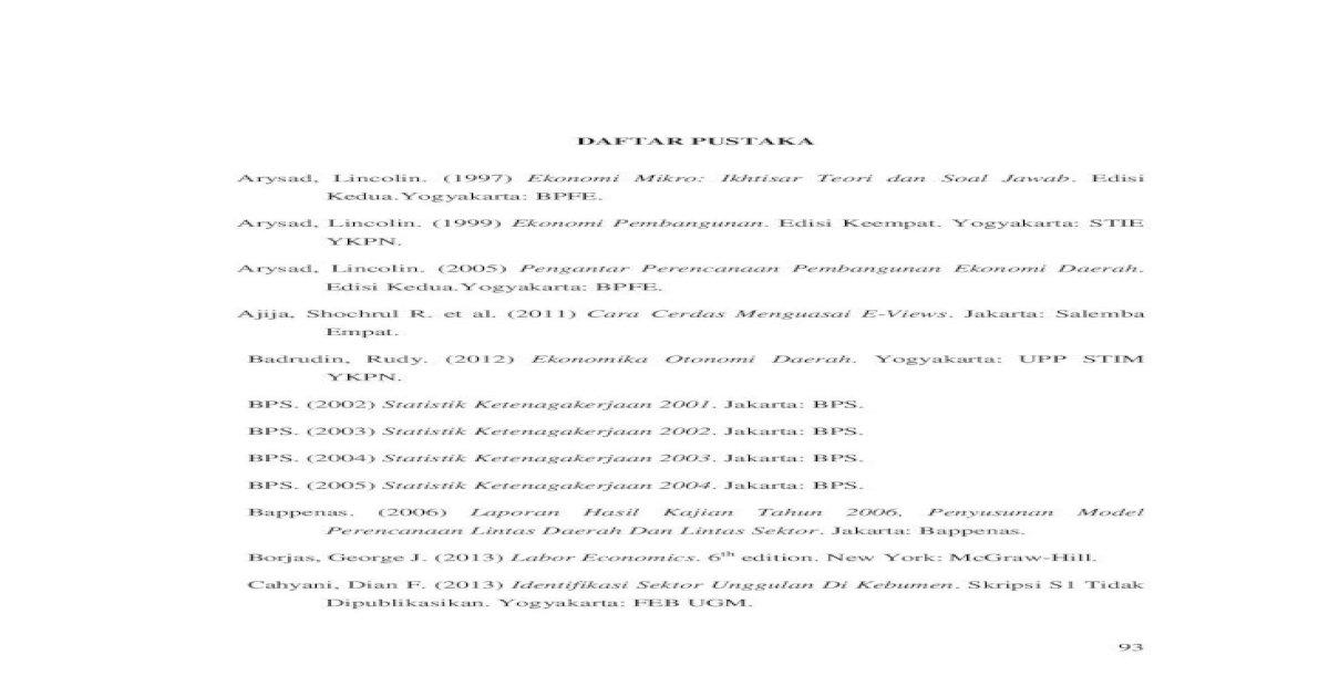 Daftar Pustaka Etd Romas Y 2013 Analisis Pengaruh