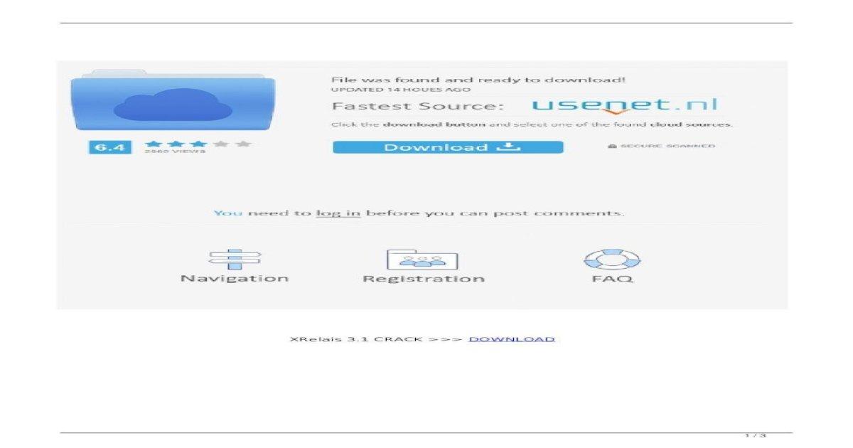 GRATUIT TÉLÉCHARGER XRELAIS 3.0