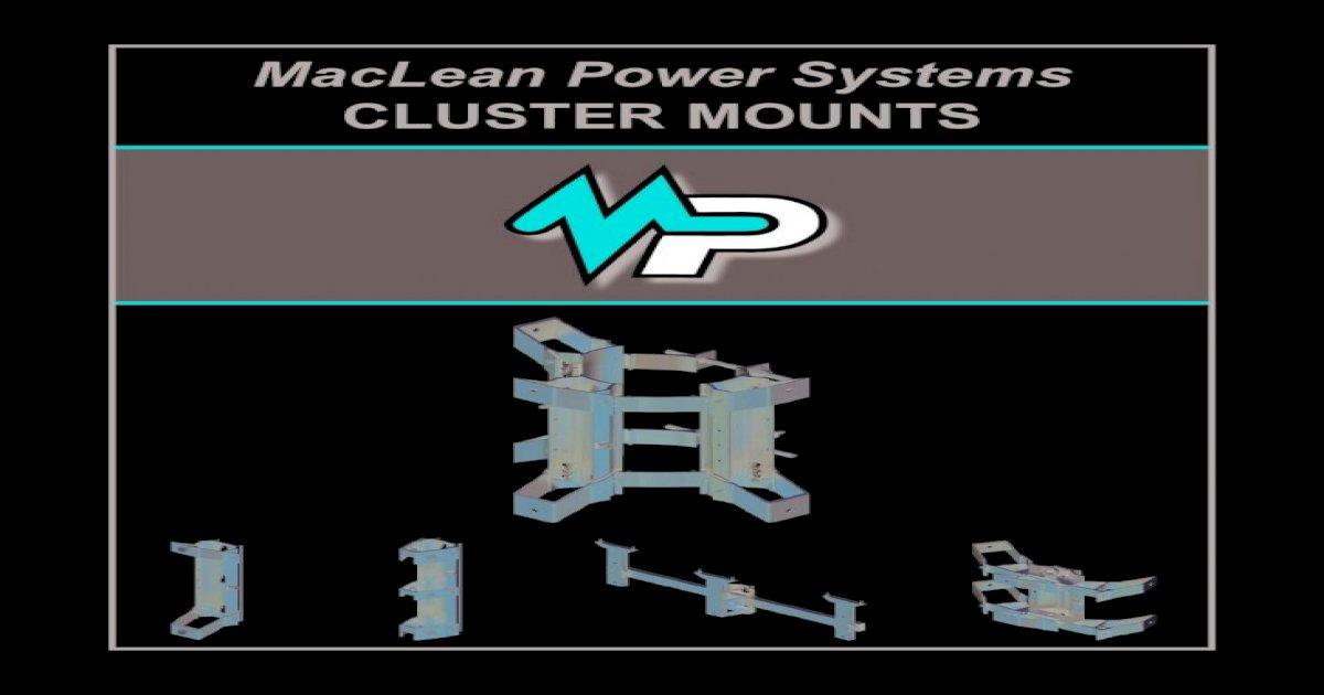 Hubbell C6M36 Transformer Banded-Cluster Bracket
