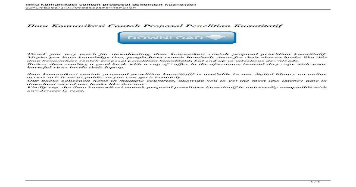 Ilmu Komunikasi Contoh Proposal Penelitian 100 Contoh Skripsi