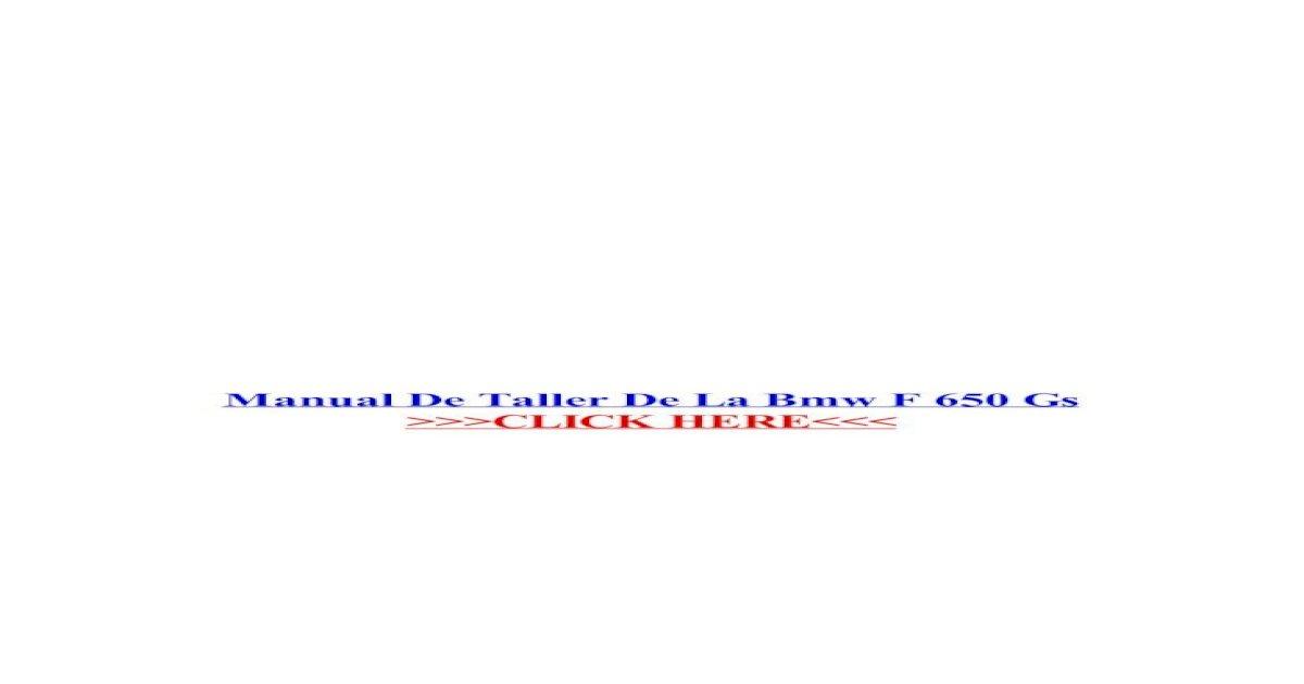Wiring Diagram De Taller Bmw F800gs