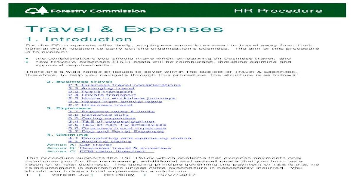 Travel Expenses 1 Eem