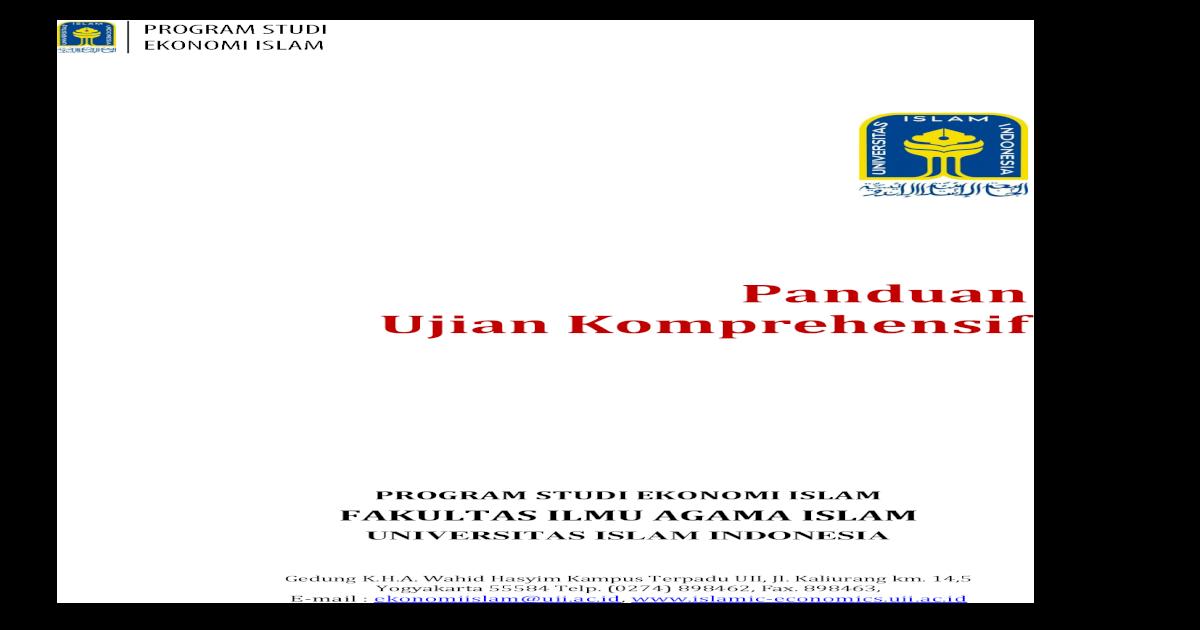 Panduan Ujian Komprehensif Islamic Ujian Komprehensif