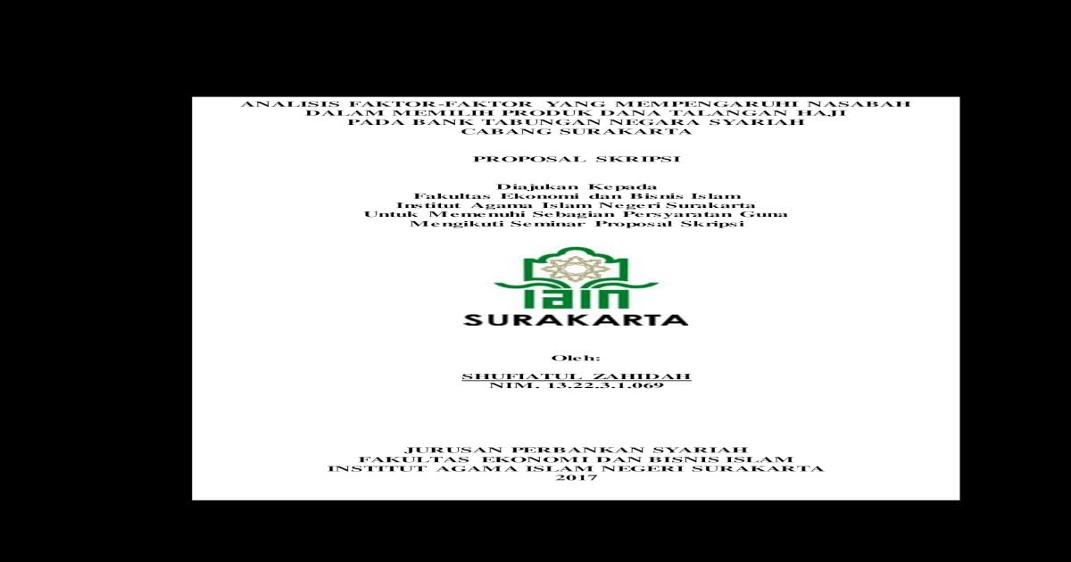 Proposal Perbankan Syariah Sketsa