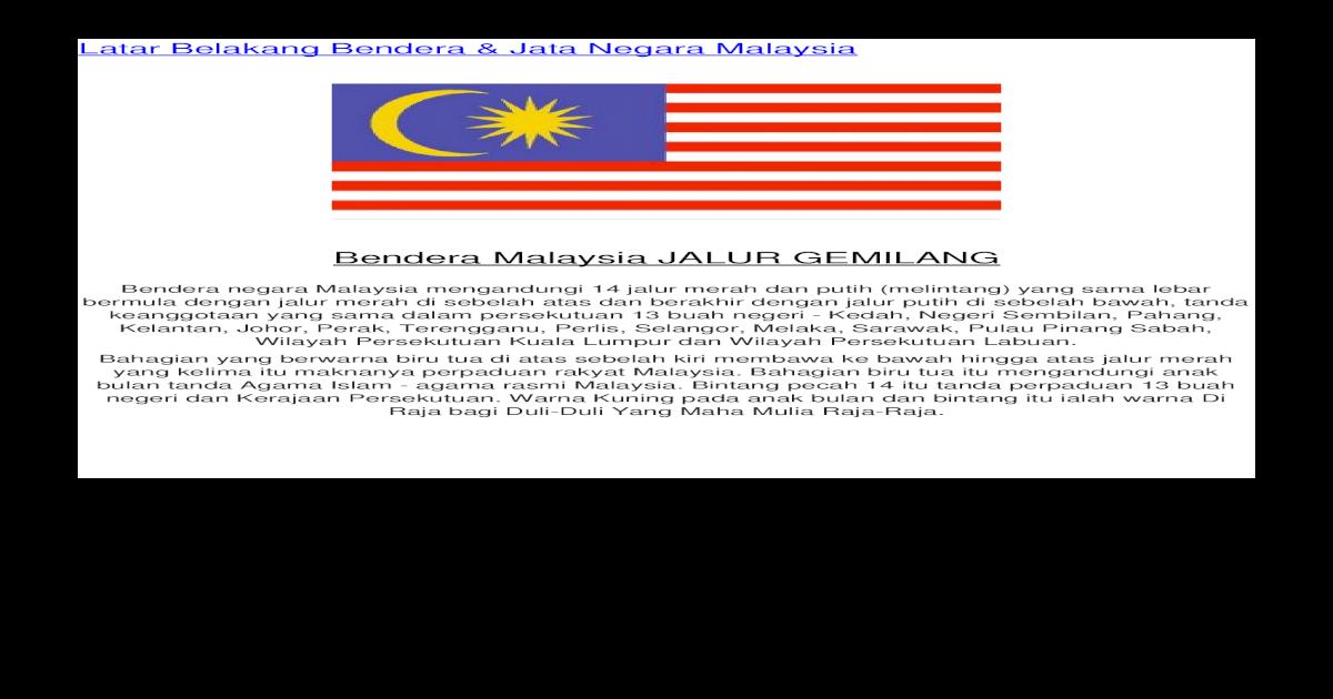 Folio Sivik Bendera Bendera Dan Jata Jata Negeri Negeri Di Malaysia