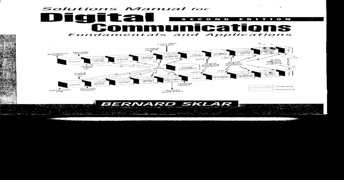 Solution Manual Digital Communication by Bernard Sklar