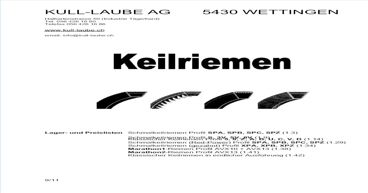 Keilriemen A 13 x 845 Li 13 x 875 Lw V-Belt