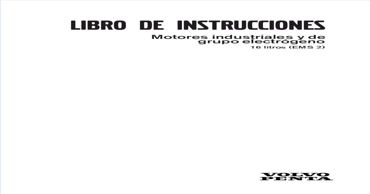 Manual Operacion Volvo TAD1641GE
