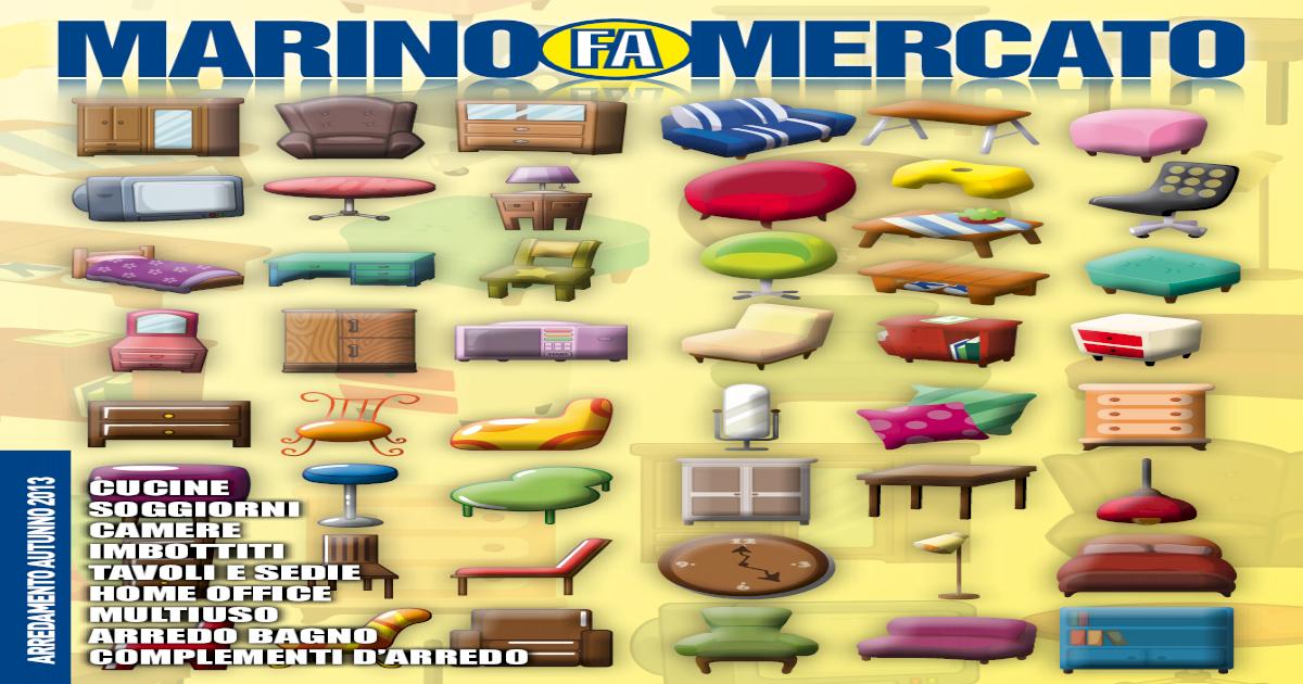 Marino Fa Mercato Catalogo Arredamento Autunno 2013