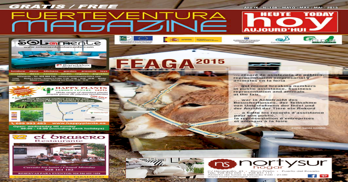 FUERTEVENTURA MAGAZINE HOY - N 108 - MAYO 2015