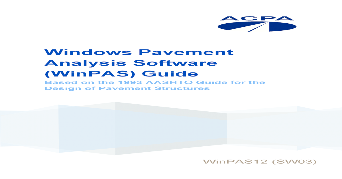 Winpas User Manual