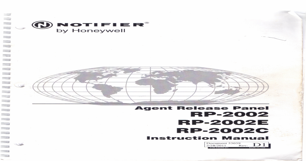 notifier rp-2002 instruction manual