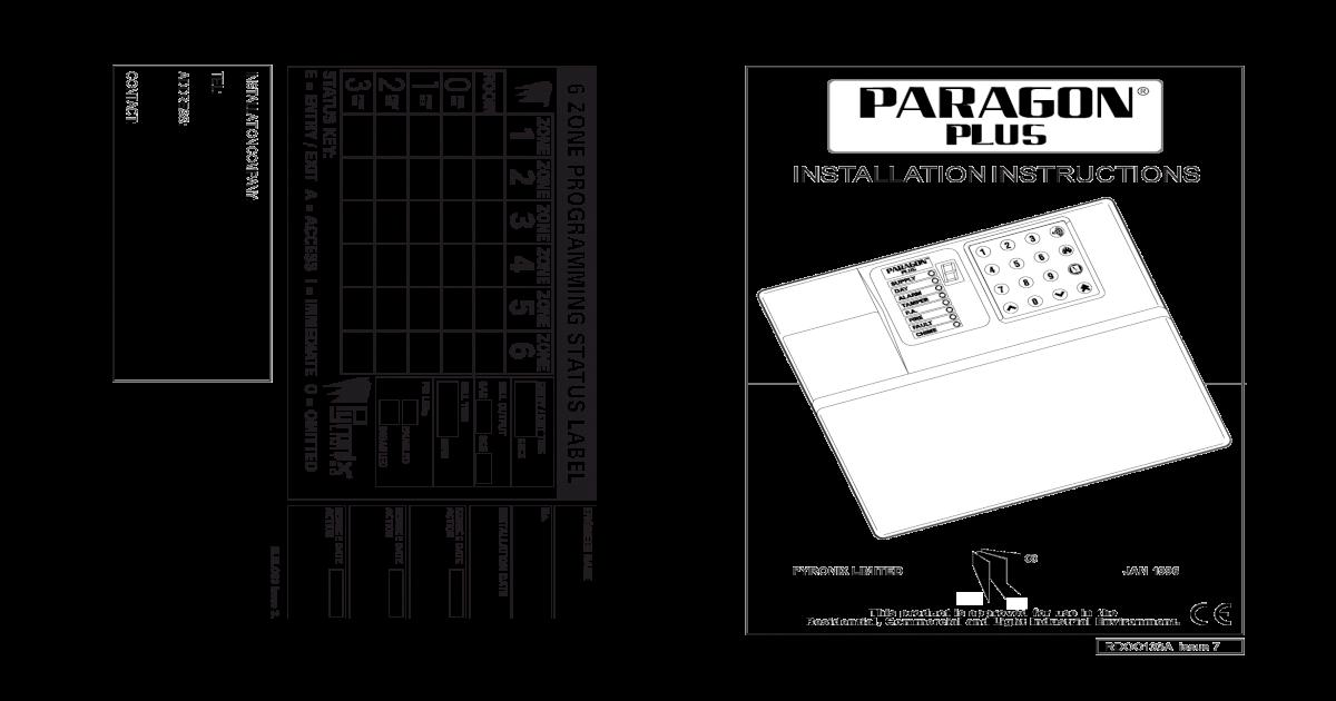 Paragon Plus Installer Manual