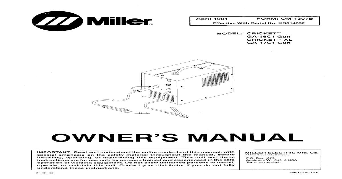 Miller Cricket Manual