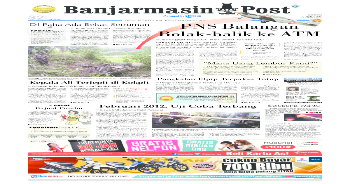 Banjarmasin Post edisi cetak sabtu 7 Desember 2011