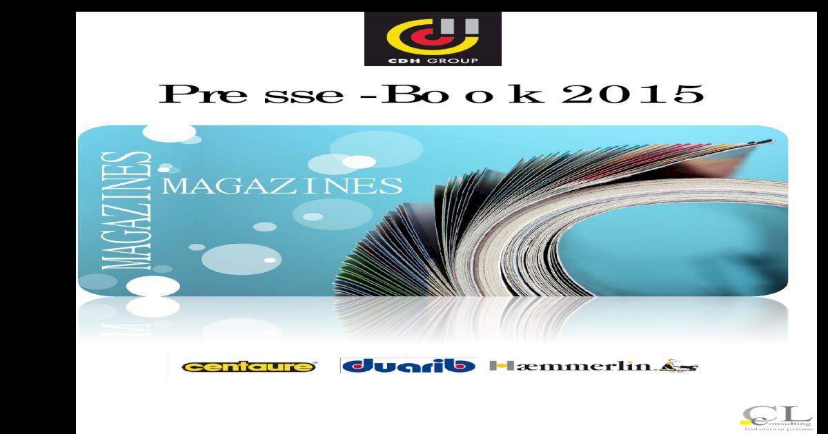 2015 Presse Book Cdh