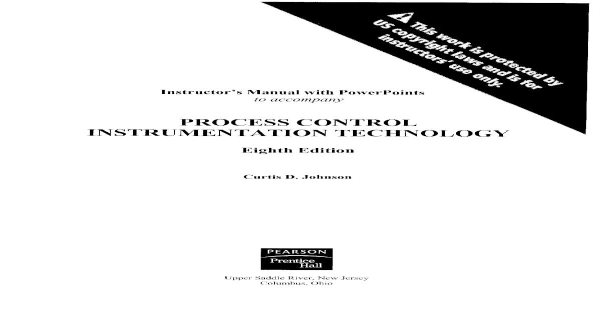 Solution Manual : Process Control Instrumentation Technology