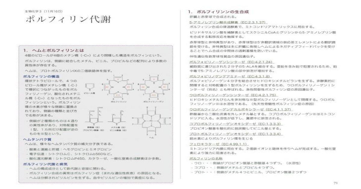 ポルフィリン代謝 - huhs.ac. h990002t/resources/downloard/15 ...