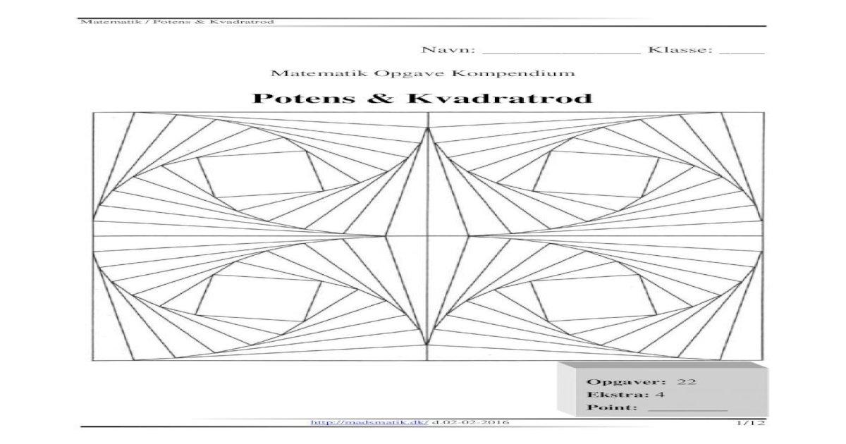Potens matematik Basismatematik