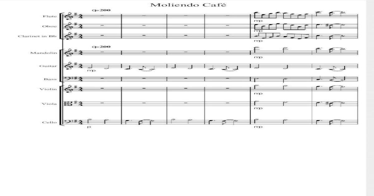 Partitura Moliendo Cafe Score
