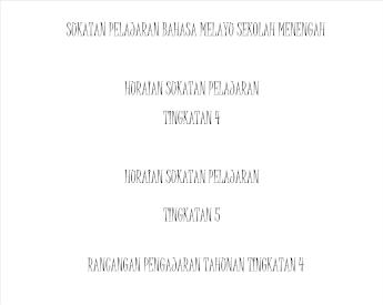 Sukatan Pelajaran Bahasa Melayu Sekolah Menengah