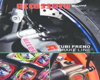 TUBO FRENO POST Honda XRV750 AFRICA TWIN 1990-2003  VARI COLORI IN TRECCIA