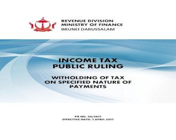 Income Tax Public Ruling Mof Gov Bn Documents Revenue Public Income Tax Public Ruling Witholding