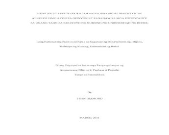 Thesis in filipino 2 top ghostwriter website for college